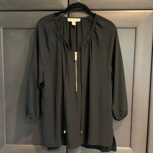 Michael Kors Black Top with Gold Accents Size M